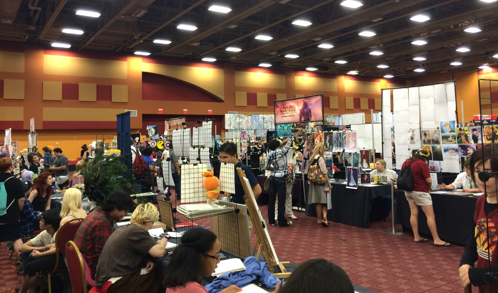My view from Saboten Con 2014 at Artist Alley booths